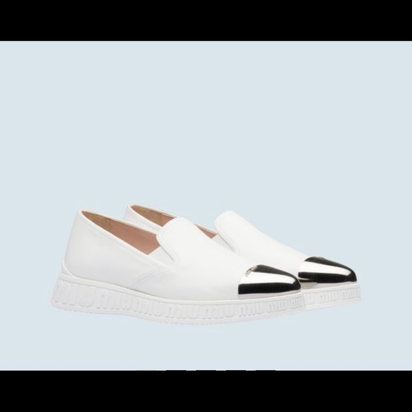 innovative design good selling most popular Miu Miu Shoes | Nappa Leather Slip On White Sneakers | Poshmark